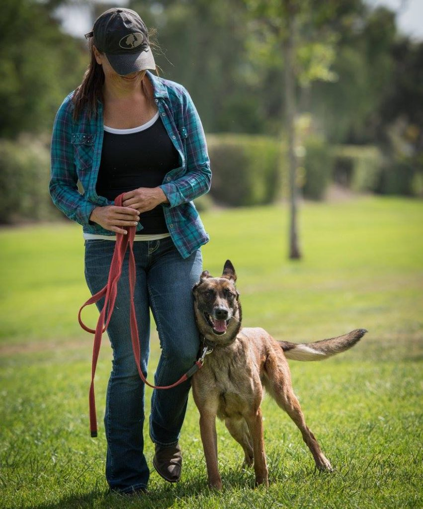 Dog Trainer Meagan Karnes with Belgian Malinois