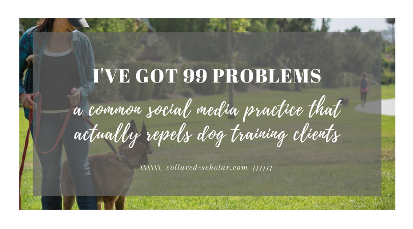 99 Problems: The Single Thing the Stops Dog Trainers From Being Effective on Social Media